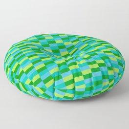 """""""Lime Lite"""" Op Art Floor Pillow"""