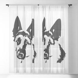 German Shepherd Dog Gifts Sheer Curtain