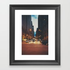 the streets of Chicago ... Framed Art Print