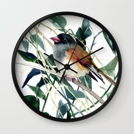 Cute Bird Dark Eyed Junco Wall Clock