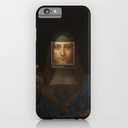Salvator Mundi _tag iPhone Case