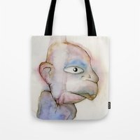 the dude Tote Bags featuring Dude by Zorko
