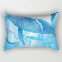 Flying in the sea Rectangular Pillow