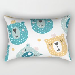 Bear Print - Prince of the Forest Rectangular Pillow