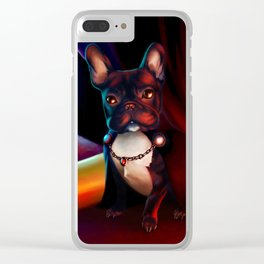 Frenchie by Firelight Clear iPhone Case