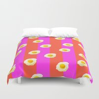 egg Duvet Covers featuring Egg Dreams by Tyler Spangler