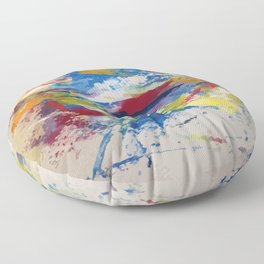 Abstract Oils Floor Pillow