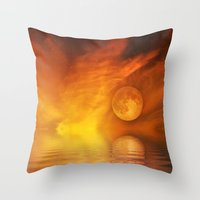 skyfall Throw Pillows featuring skyfall by LuMixaArt