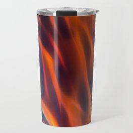 Glowng Orange Fire Travel Mug