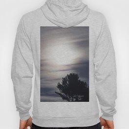 Full moon and clouds Hoody
