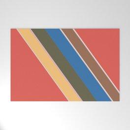 Oblique lines, diagonal Welcome Mat