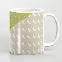 sewing Mugs featuring Sewing pattern by Ella Elron-Breitman