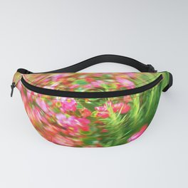 Flowers in Circular Motion Fanny Pack