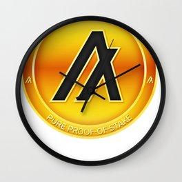 Algorand Cryptocurrency Design Wall Clock