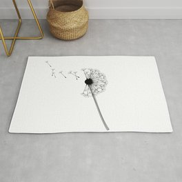 Dandelion Black and White Rug