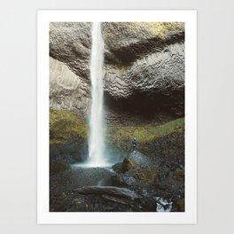 Giant Waterfall in the Columbia Gorge Art Print
