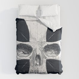 skull and cross Comforters
