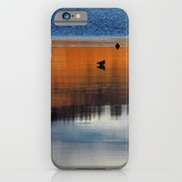 Lake Reflections of Birds at Sunset iPhone Case