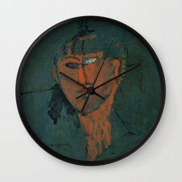Amadeo Modigliani / Tête rouge - 1915 Wall Clock