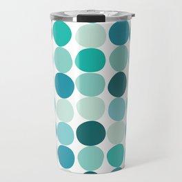 Midcentury Modern Dots Blue Travel Mug