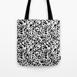 Terrazzo Spot 2 Black on White Tote Bag