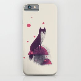 Little Fox and Mushrooms iPhone Case
