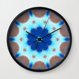 She Dreams Of Blue Flowers Wall Clock