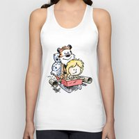 hobbes Tank Tops featuring Not the Droids! by Billy Allison