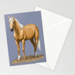 Beautiful Palomino Quarter Horse Stationery Cards