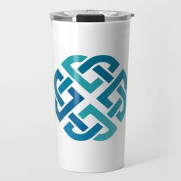 St. Patrick's Day Celtic Blue Knot #2 Travel Mug