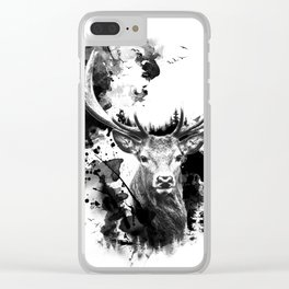 Once upon a Stag Clear iPhone Case