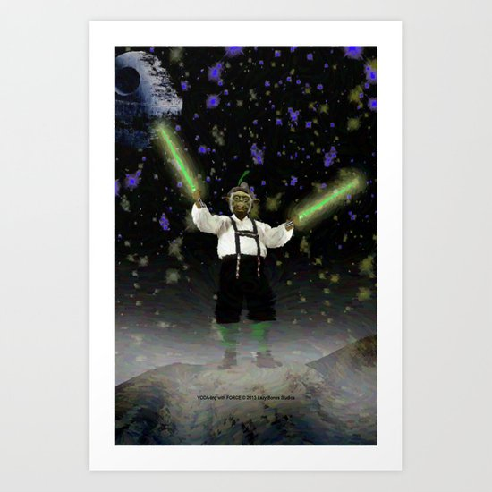 YODA-ling with FORCE - 027 Art Print