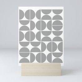Mid Century Modern Geometric 04 Grey Mini Art Print