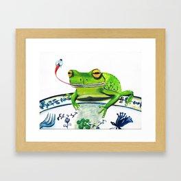 Inviting a Frog to Dinner Framed Art Print