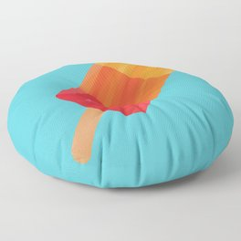 Ice Block Polygon Art Floor Pillow