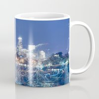 minneapolis Mugs featuring Minneapolis Neon by Andrew C. Kurcan