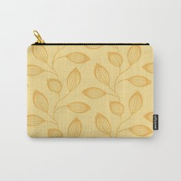 Climbing Leaves In Mango On Dusky Citrus Carry-All Pouch