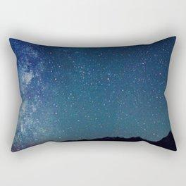 Milky Way Over the Tetons Rectangular Pillow