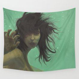 mint girl Wall Tapestry