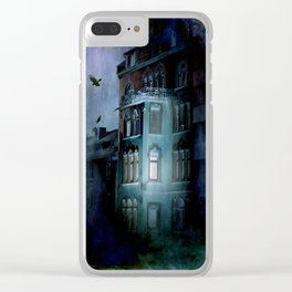 birds over the haunted house Clear iPhone Case