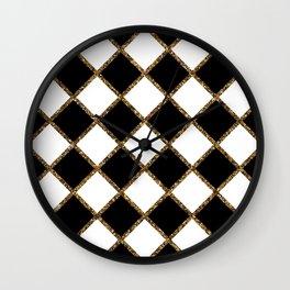 Geometric ornament gold seamless pattern Wall Clock