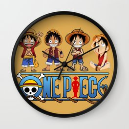 Luffy kids the Pirates - OnePiece Wall Clock