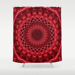 Rich mandala in red tones Shower Curtain