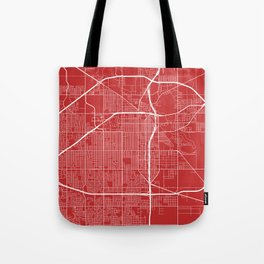 Lubbock Map, USA - Red Tote Bag
