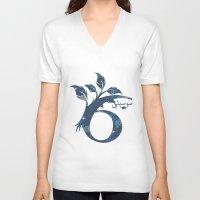 arabic V-neck T-shirts featuring S6 Arabic by Sumayyah Al Suwaidi