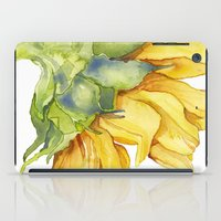 sunflower iPad Cases featuring Sunflower by Cindy Lou Bailey