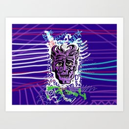Dope Creates Monsters Remixed Art Print