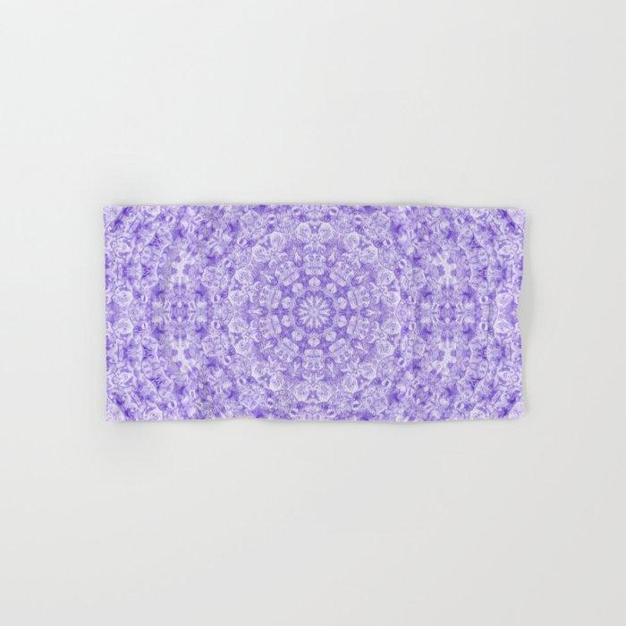 Violet Aquatica Kaleido Hand Bath Towel By Lisaargyropoulos Society6