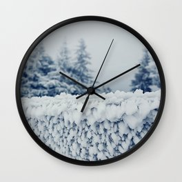 frosty fence Wall Clock
