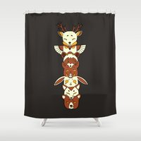 totem Shower Curtains featuring Totem by Freeminds
